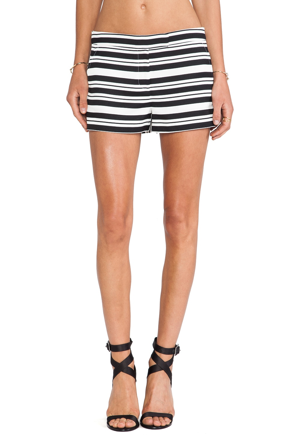 Tibi Sumer Stripe Short in Black Multi