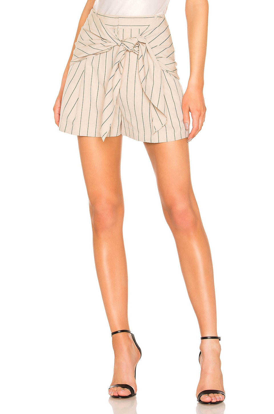 Tibi Tropical Wool Sculpted Short in Hazelwood Multi
