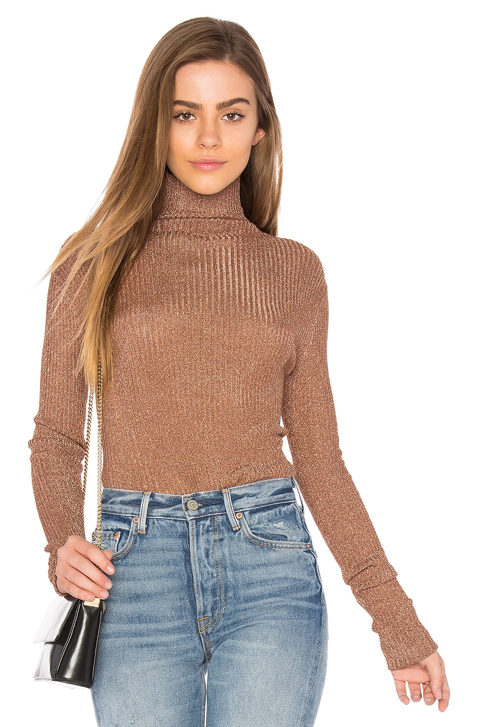 Tibi Turtleneck in Rose Gold
