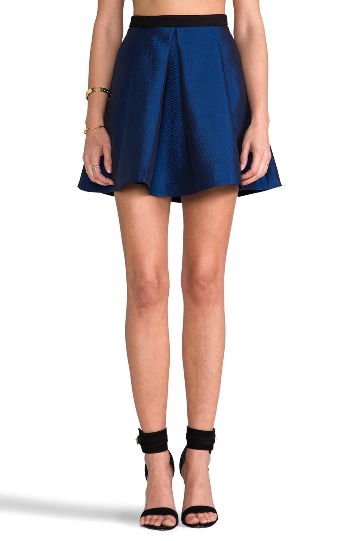 Tibi Simona Jacquard Skirt in Sapphire