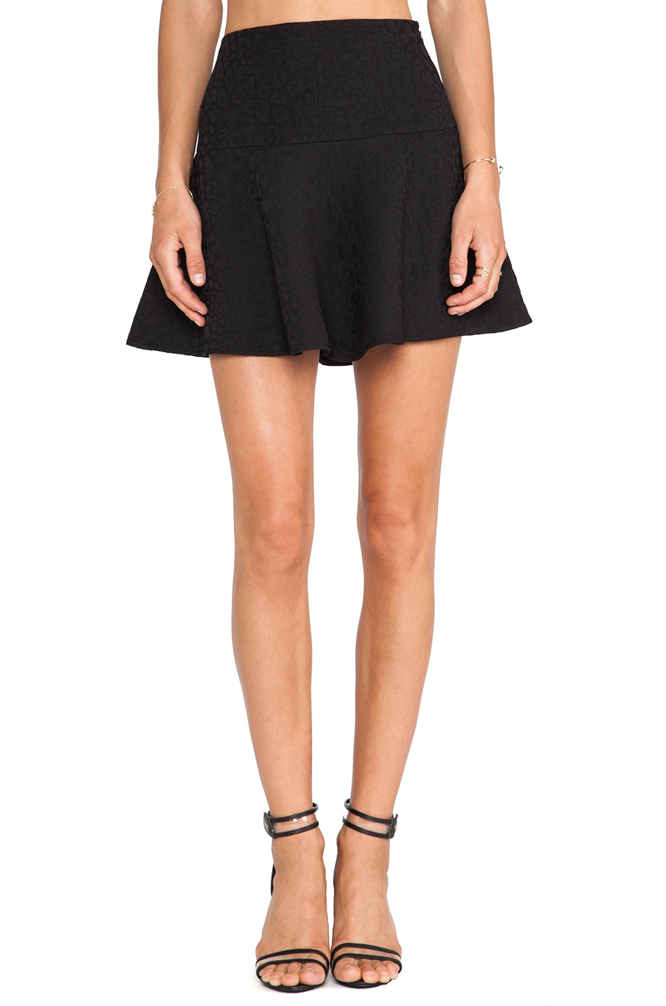 Tibi Rime Skirt in Black
