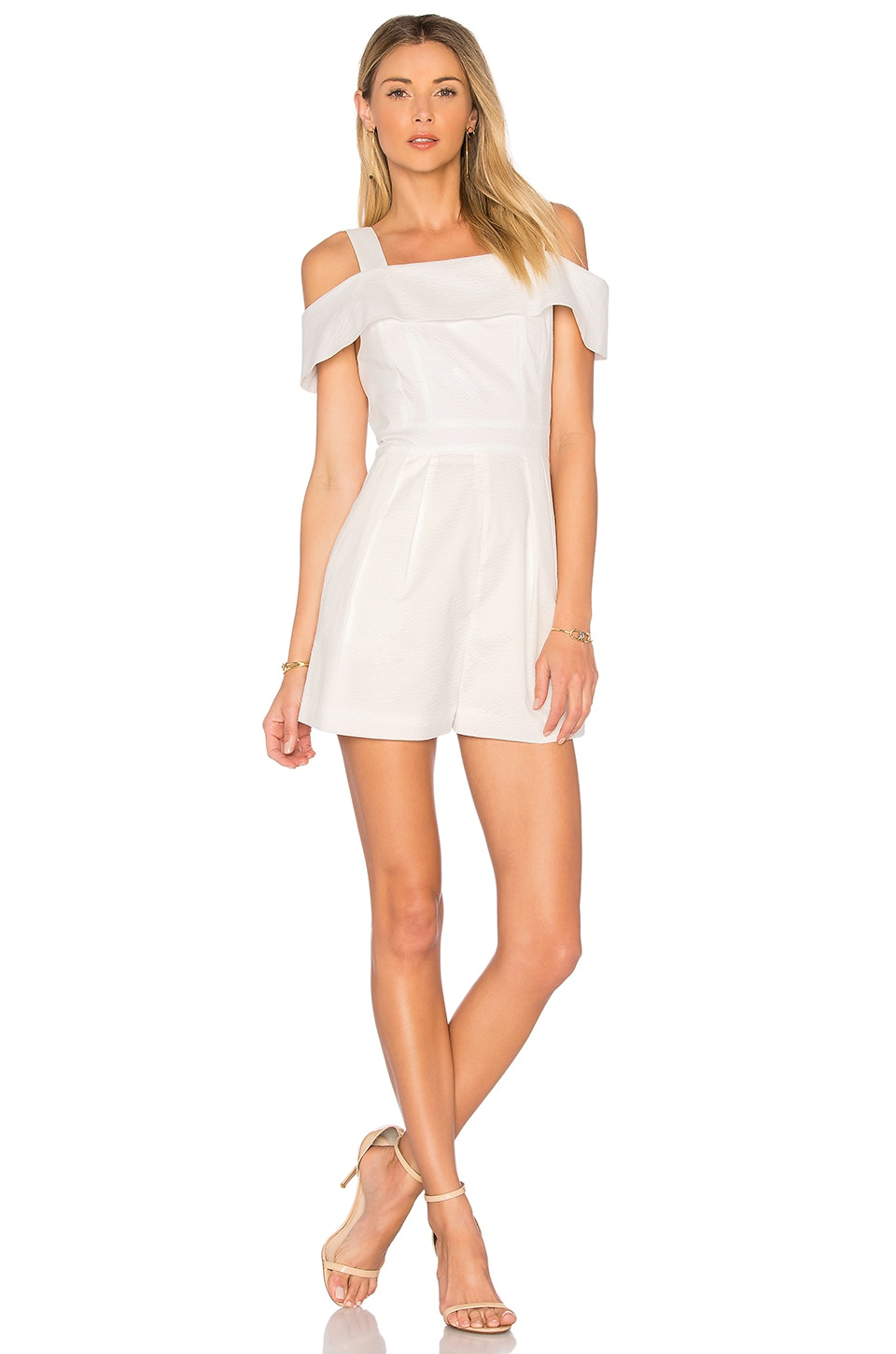 Seersucker Short Romper by Tibi