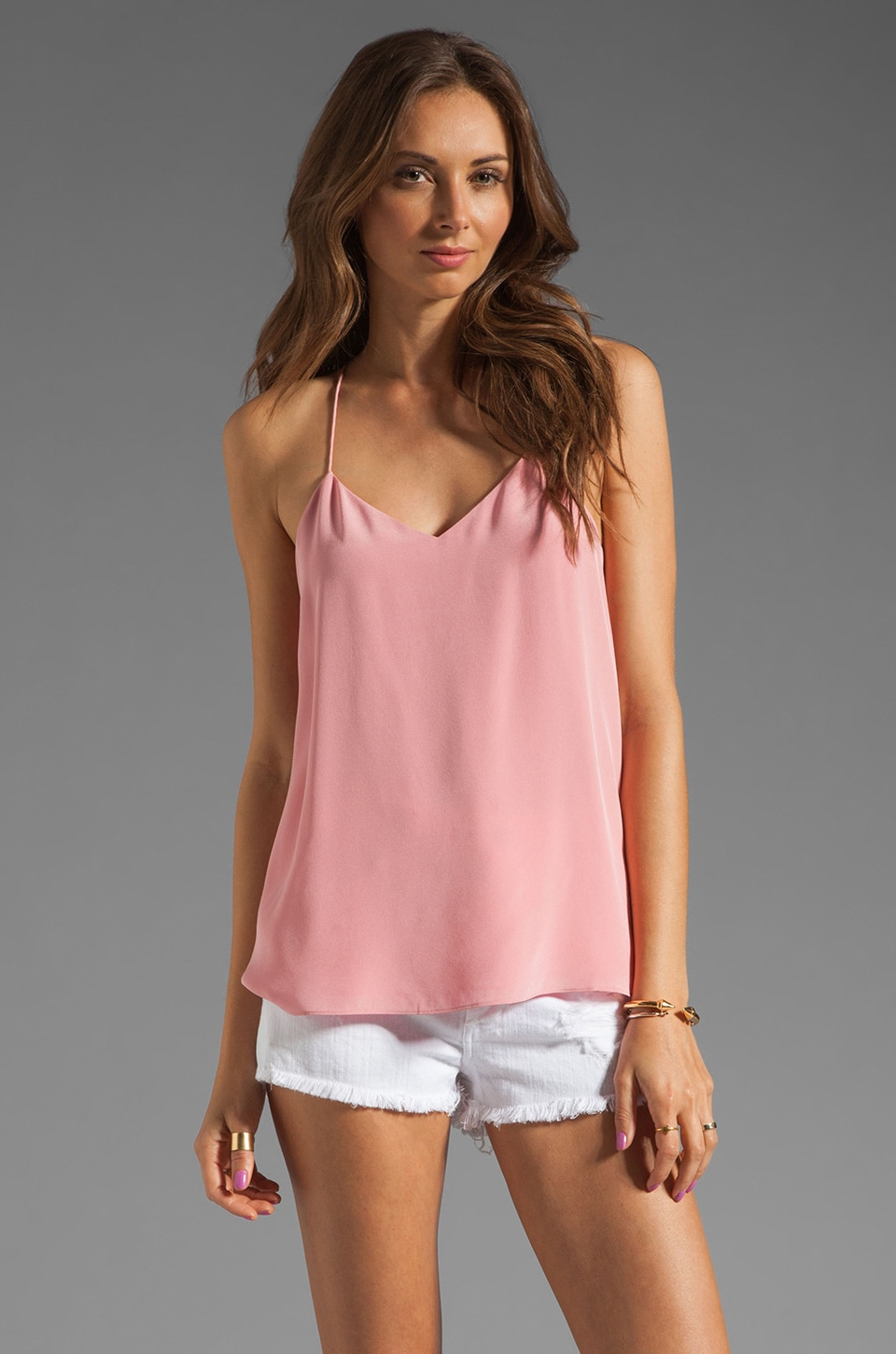 Tibi Silk Cami in Cheek