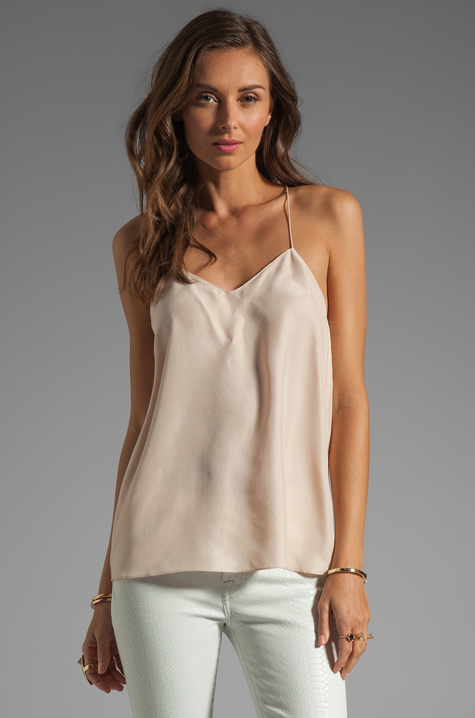 Tibi Silk Cami in Blush