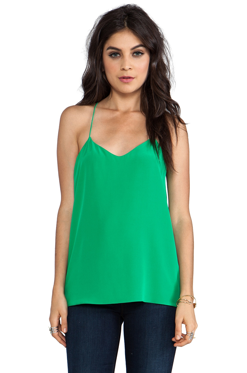Tibi Solid Heavy Cami in Yellow