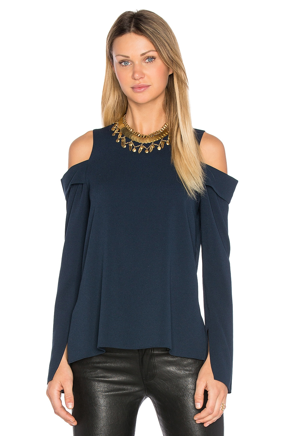 Halter Off Shoulder Top by Tibi