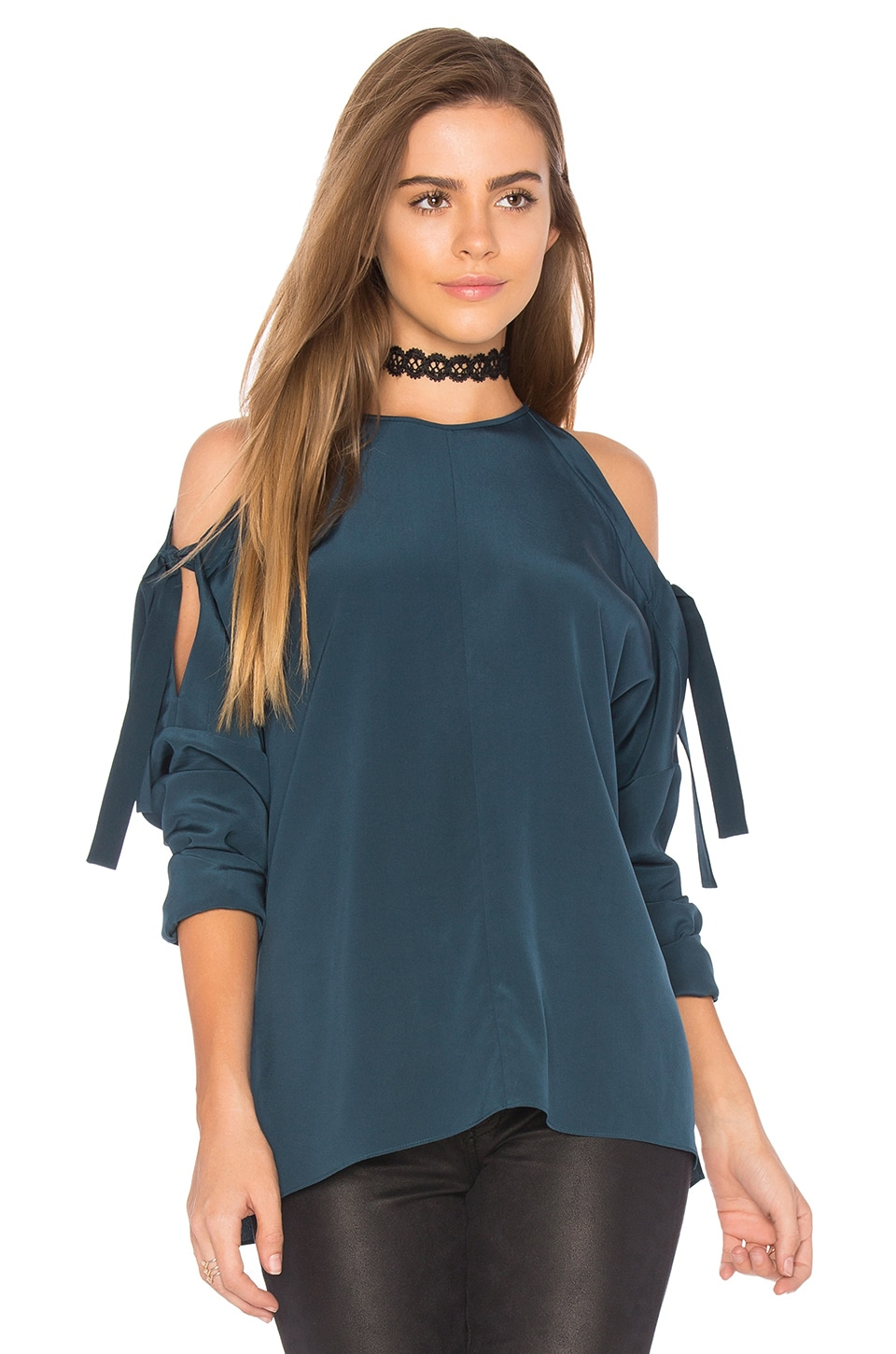 Cut Out Tie Blouse by Tibi