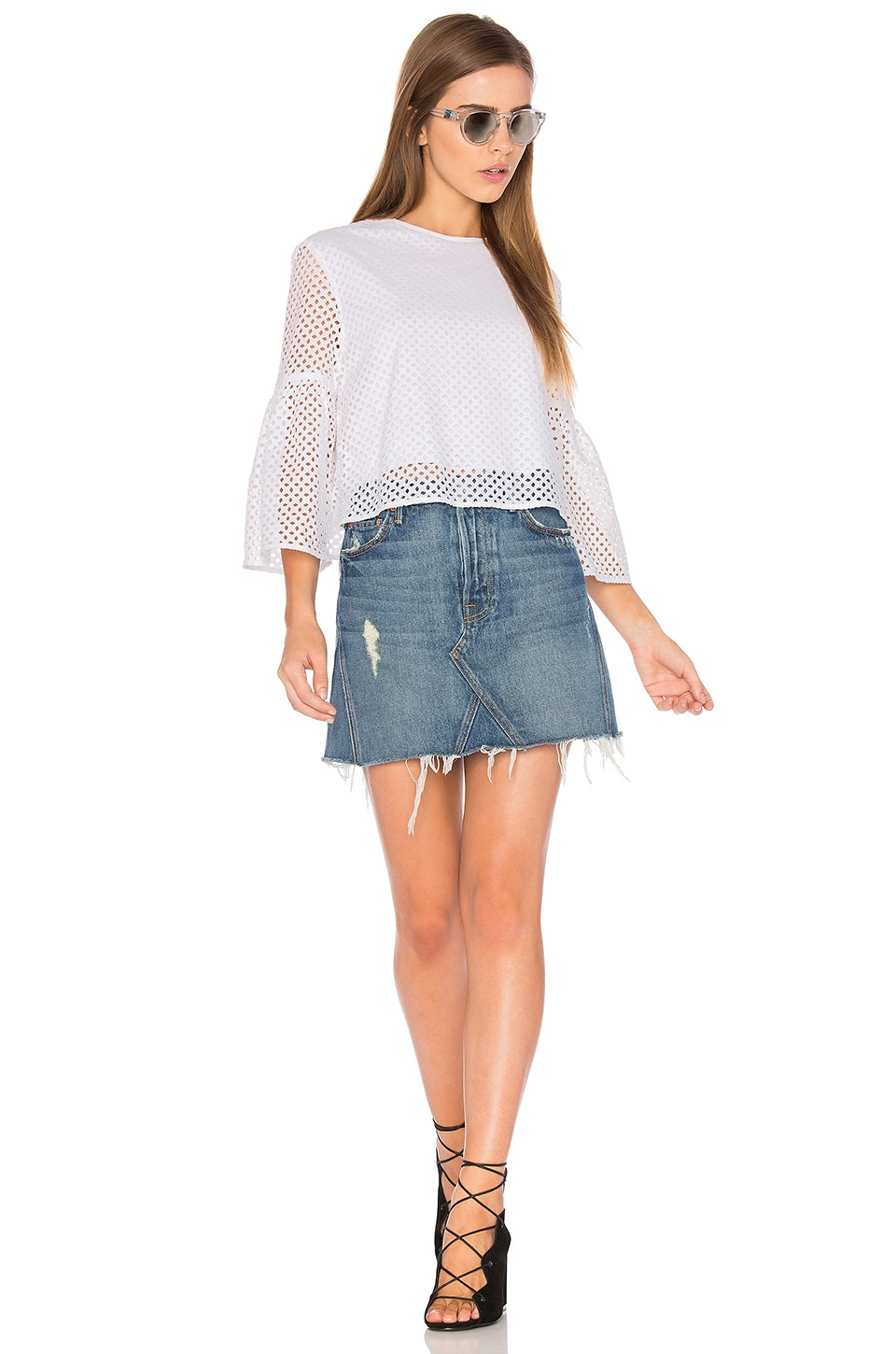 Bell Sleeved Crop Top by Tibi
