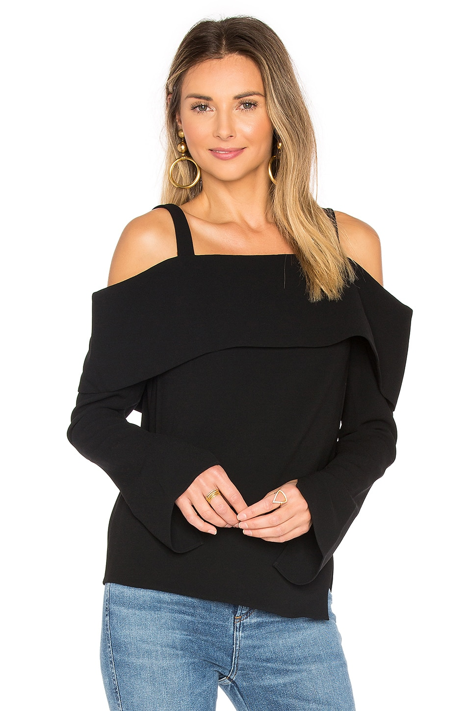 V Back Decollete Top by Tibi