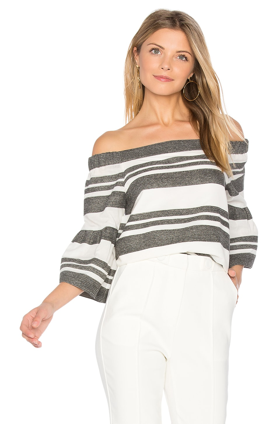 Organza Stripe Top by Tibi
