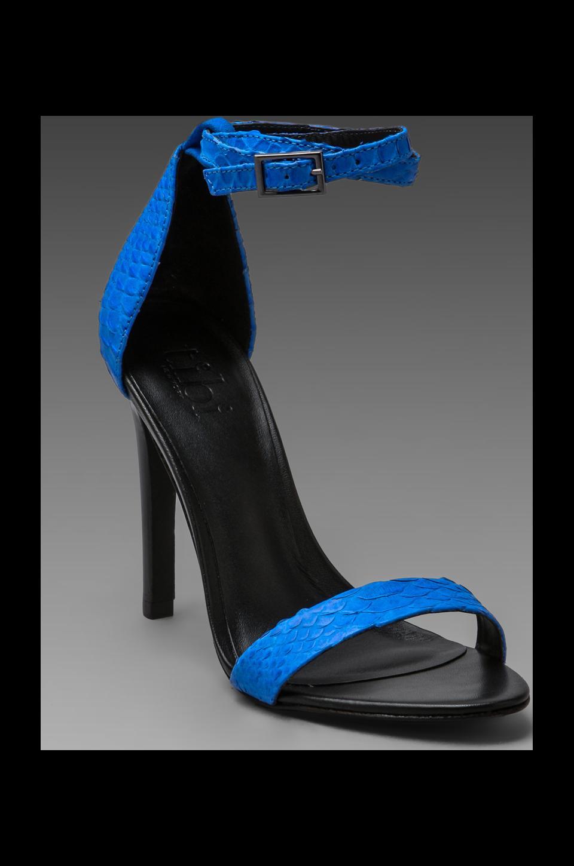 Tibi Amber Heels in Cobalt Snake