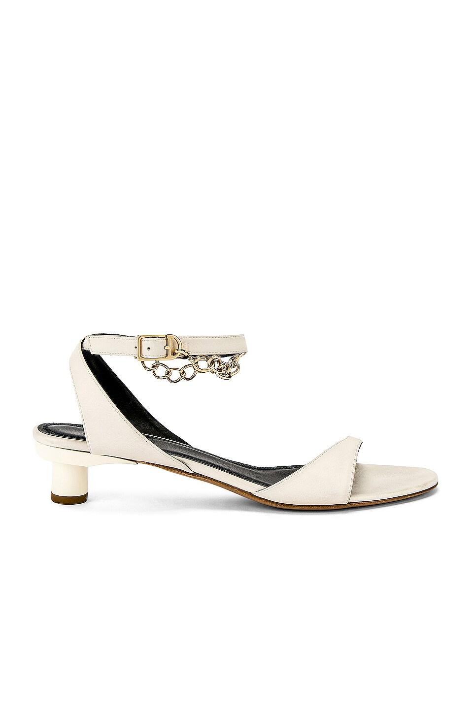 Tibi Nathan Glove Sandal in Ivory