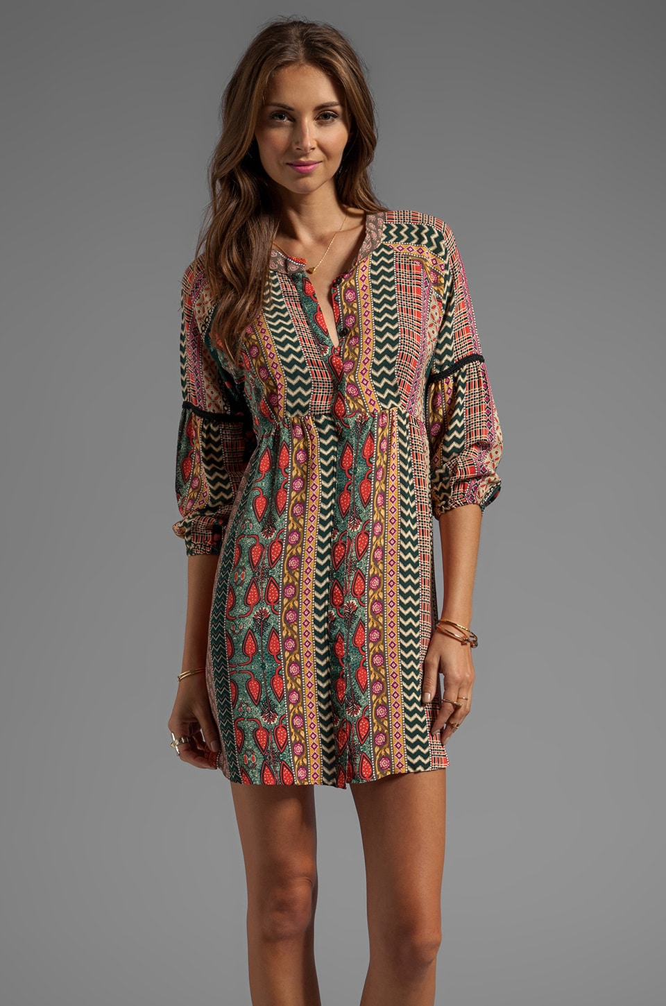 Tigerlily Shakeela Shirt Dress in Bottle
