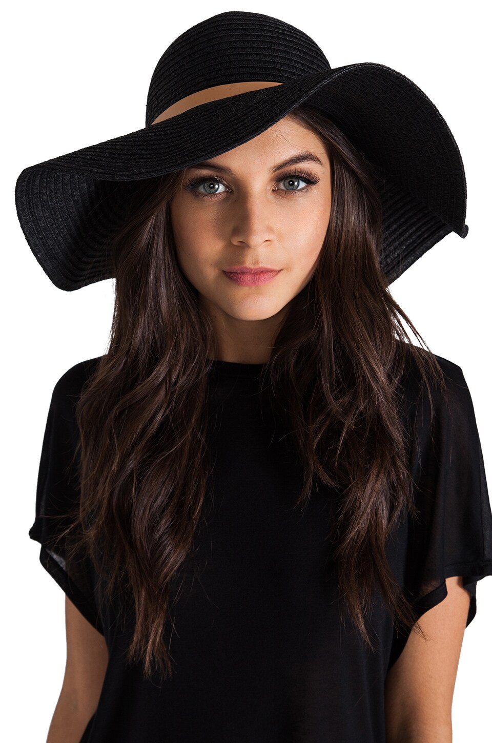 Tigerlily Shayna Floppy Hat in Black