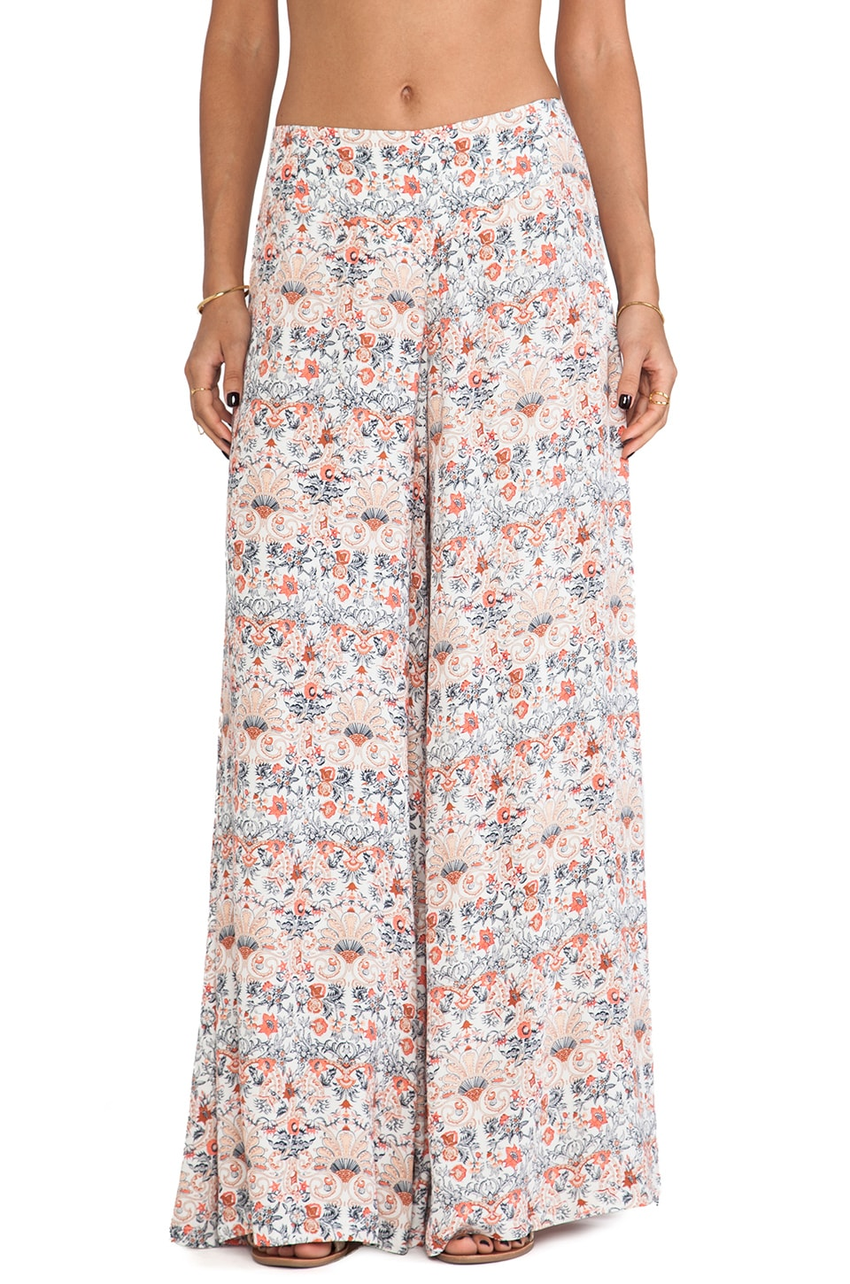 Tigerlily Italienne Floral Pants in Vanilla
