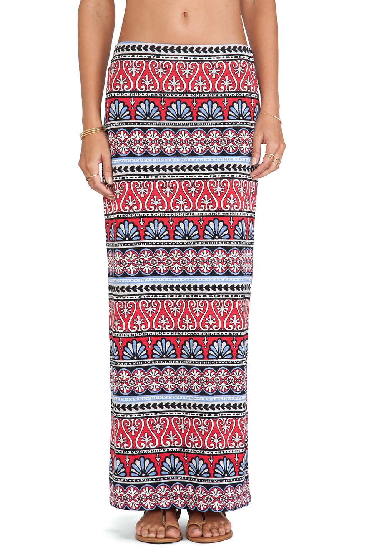 Tigerlily Boheme Maxi Skirt in Rouge