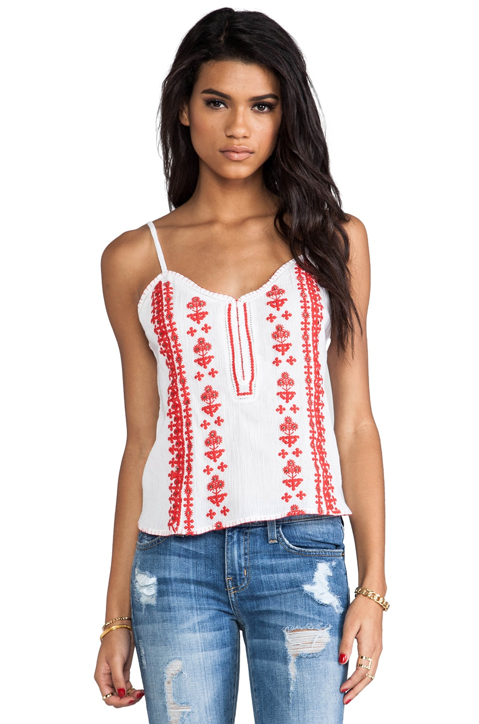Tigerlily Shrine Cami in White