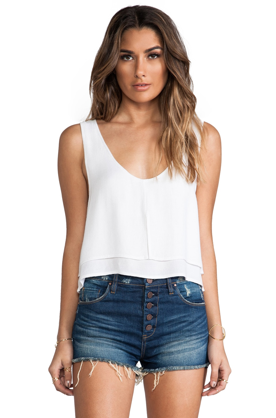 Tigerlily Isabelle Tank in White