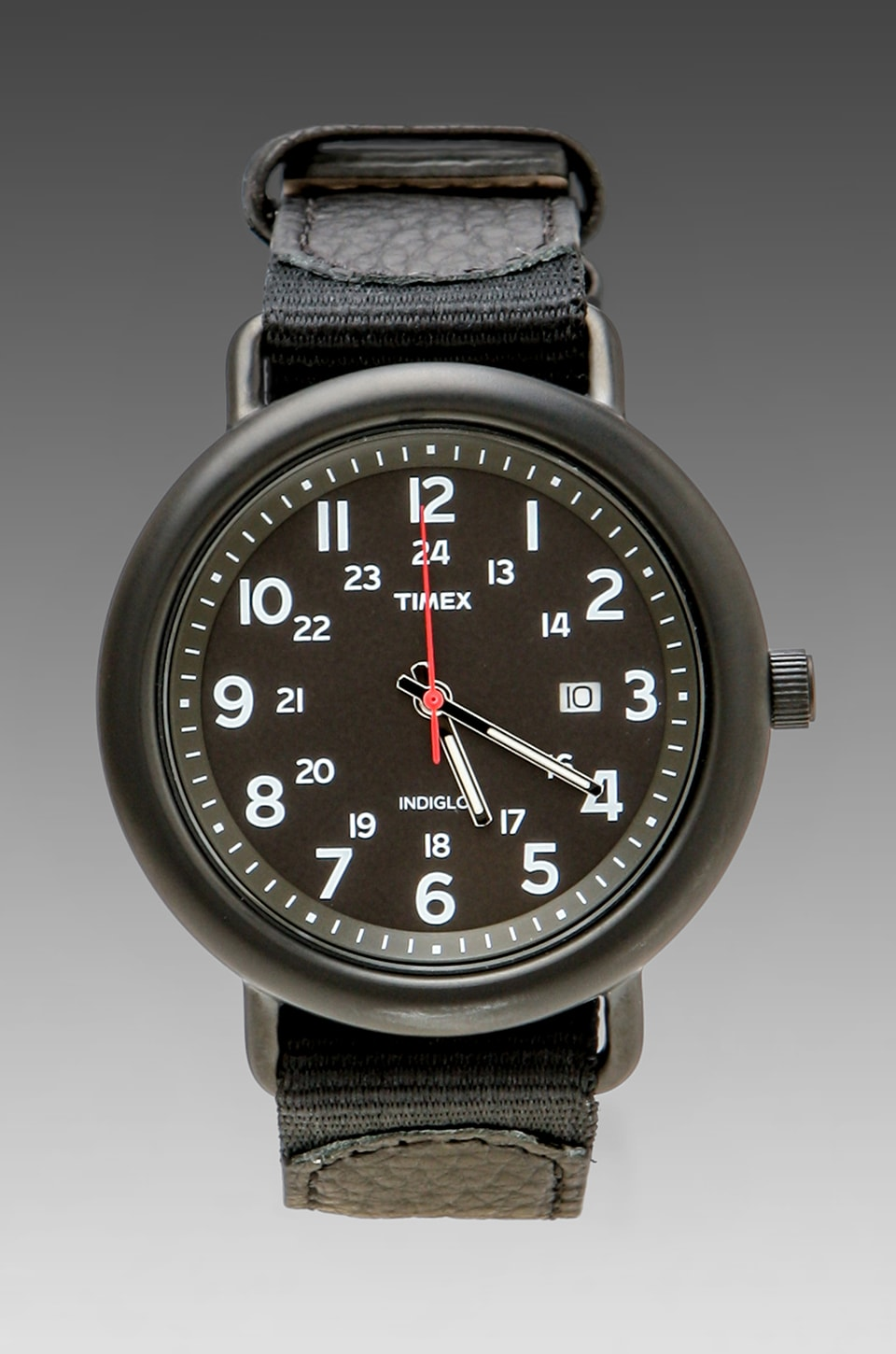 Timex Slip Thru 42mm in Black/Black/Black
