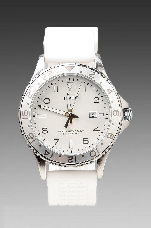 Timex Watch in White w/ White Straps