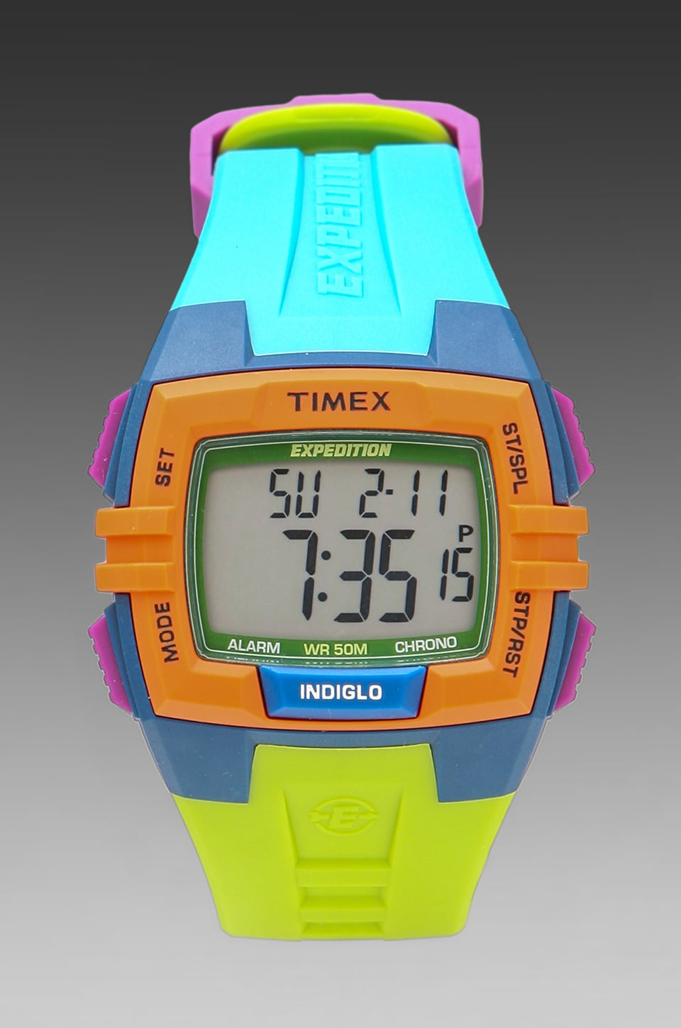 Timex CAT Colorblock in Blue & Lime Green