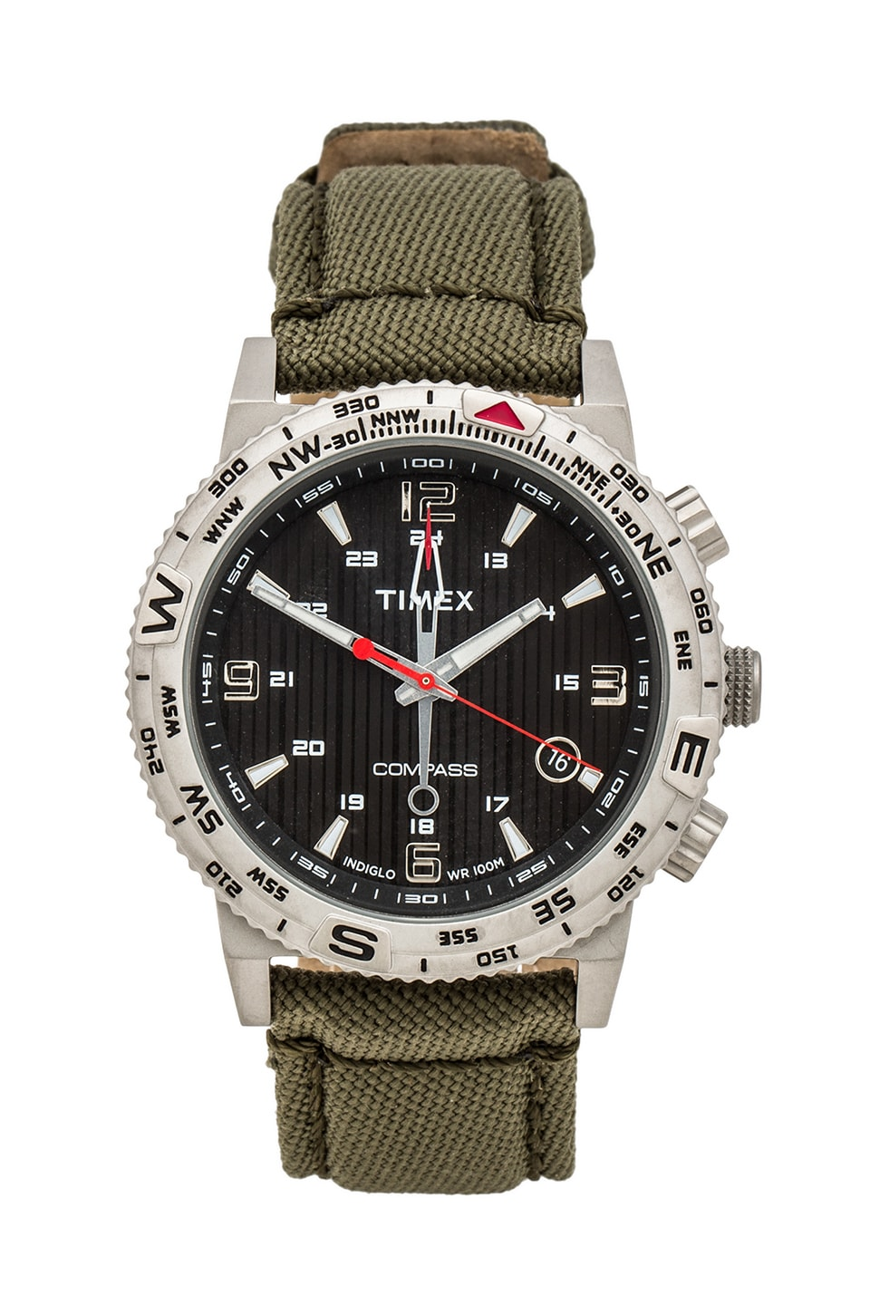 Timex Adventure Series Compass in Black & Red & Green