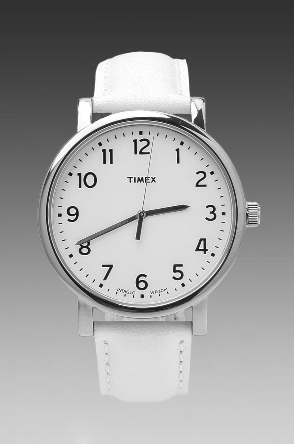 Timex Originals Modern Easy Reader With Silicon Strap in Silver/ White