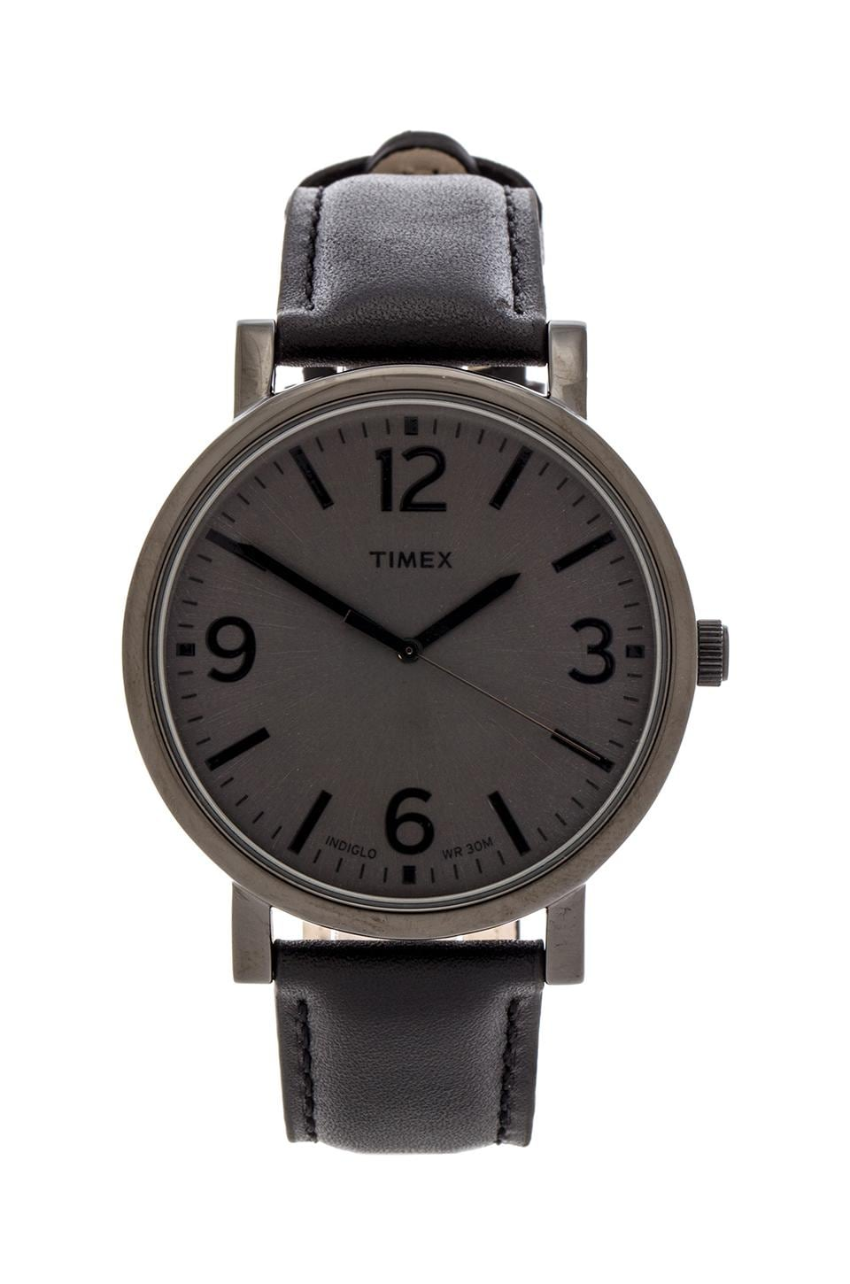 Timex Originals Classic Round 42mm in Black & Black & Black