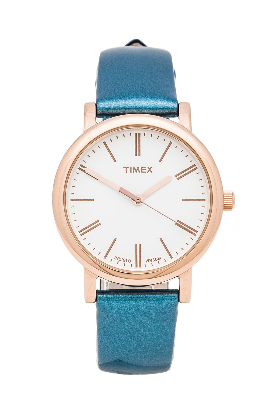 Timex Originals Classic Round Glamour Petite in Rose Gold & Pearl &  Fountain Blue