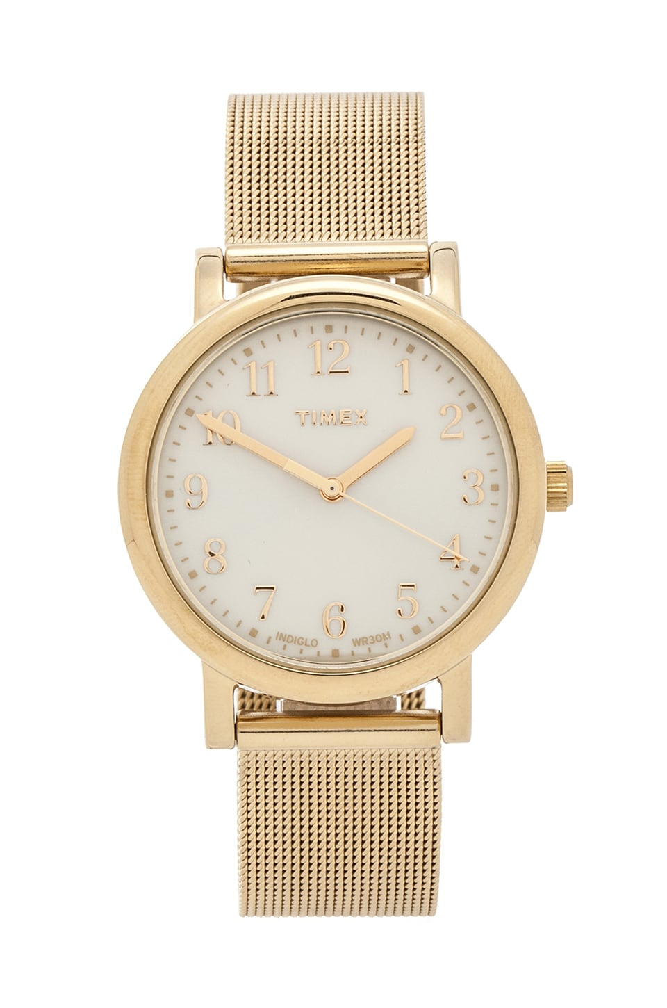 Timex Originals Classic Round 33mm in Yellow Gold/ Champagne