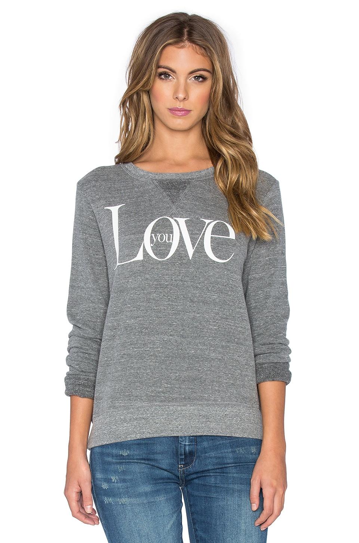 TYLER JACOBS Dee Love Sweatshirt in Heather Grey