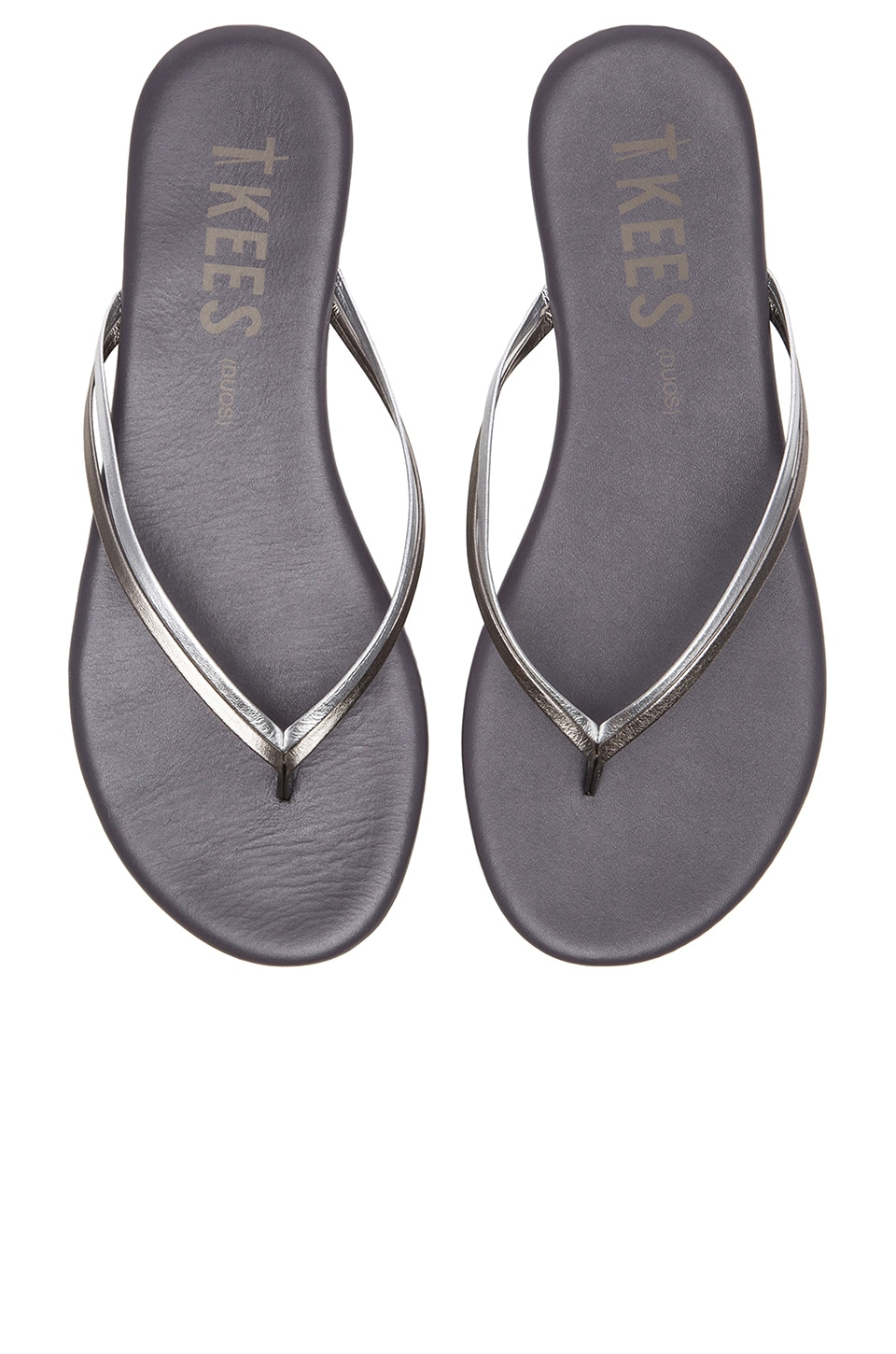 TKEES Sandal in Silver Shadowns