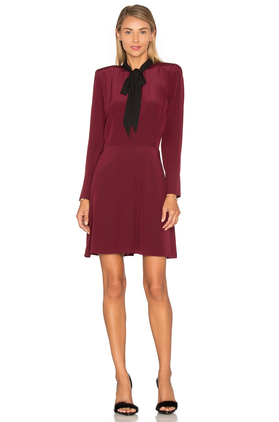 Long Sleeve Tie Neck Dress by The Kooples