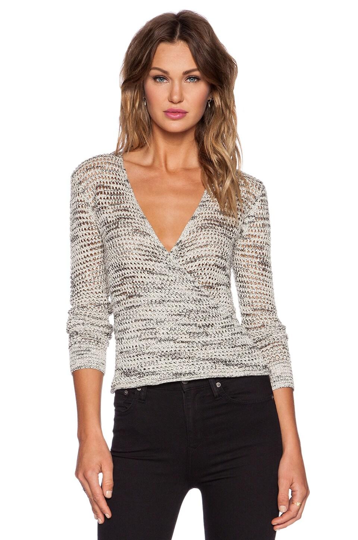 The Kooples Surplice Sweater in Ecru