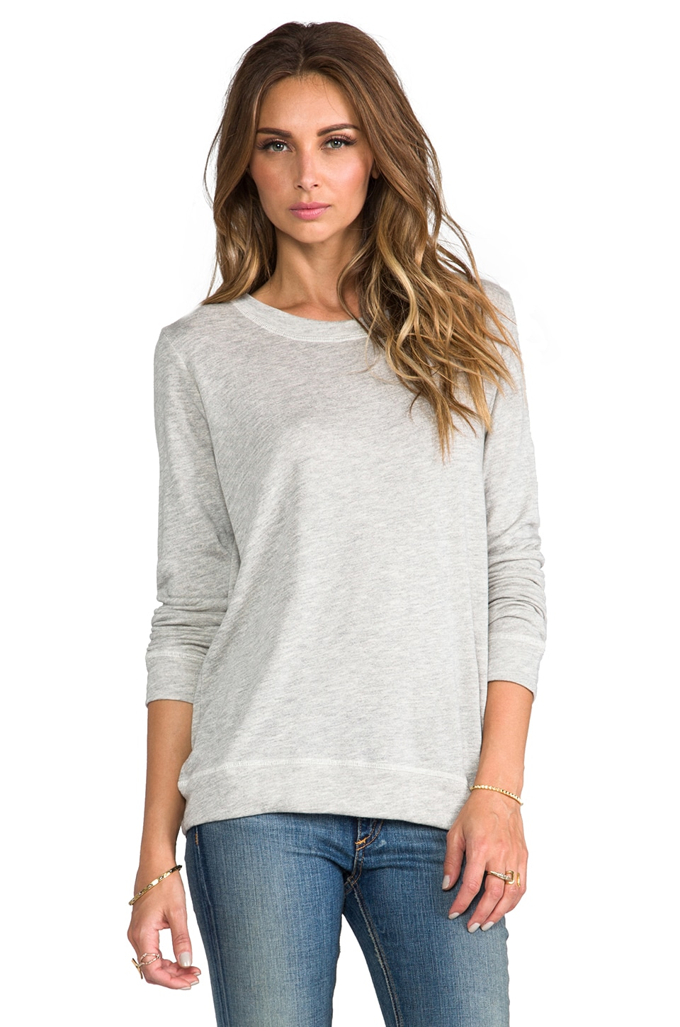 The Lady & the Sailor Classic Crew Sweatshirt in Grey Terry