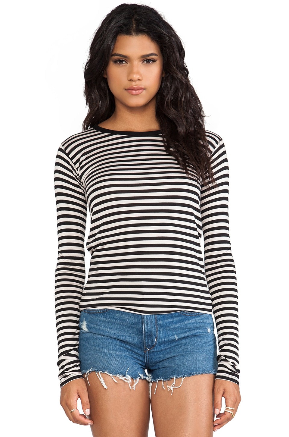 The Lady & the Sailor Boxy Long Sleeve in Nude Stripe