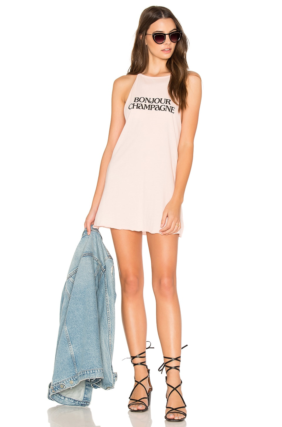 Bonjour Champagne Tank Dress by The Laundry Room