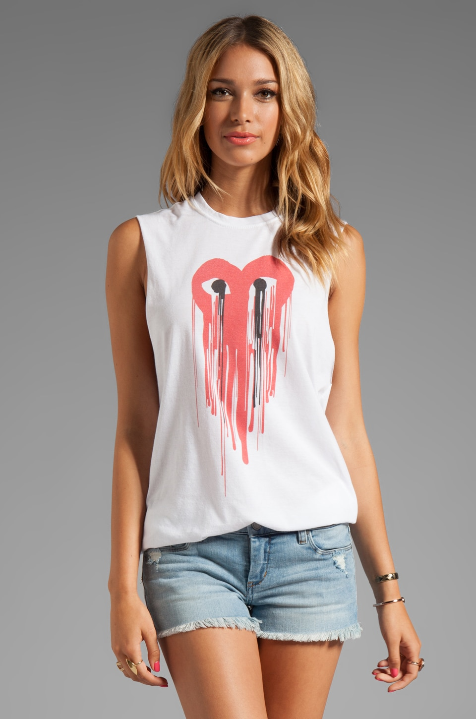 The Laundry Room Comme Drip Carcone Muscle Tee in White