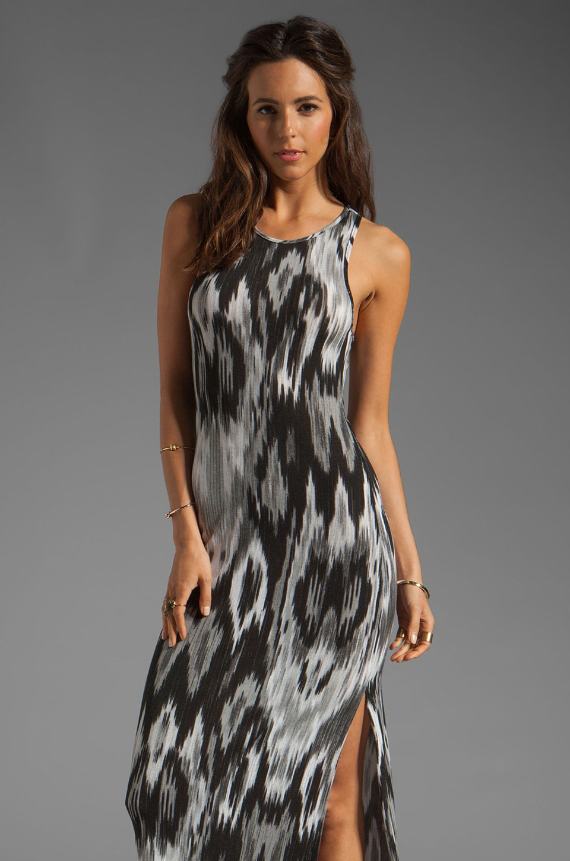 Tylie Racer Dress in Water Print Ikat