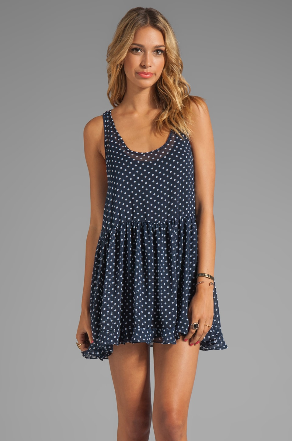 Tylie Mini Tank Dress in Polks Dot