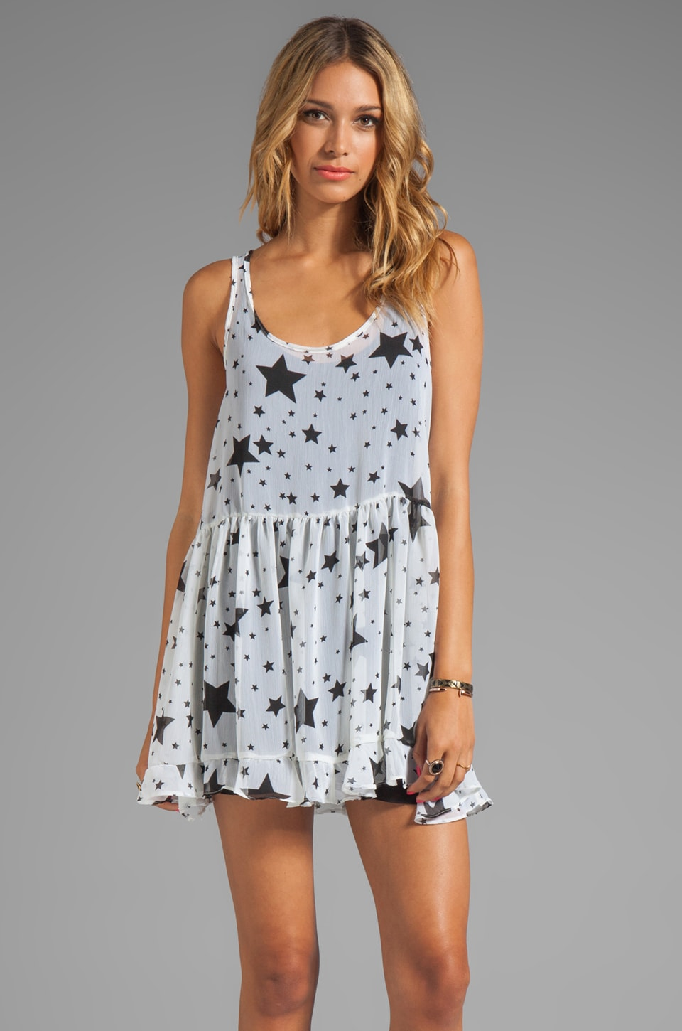 Tylie Mina Tank Dress in Starry Night