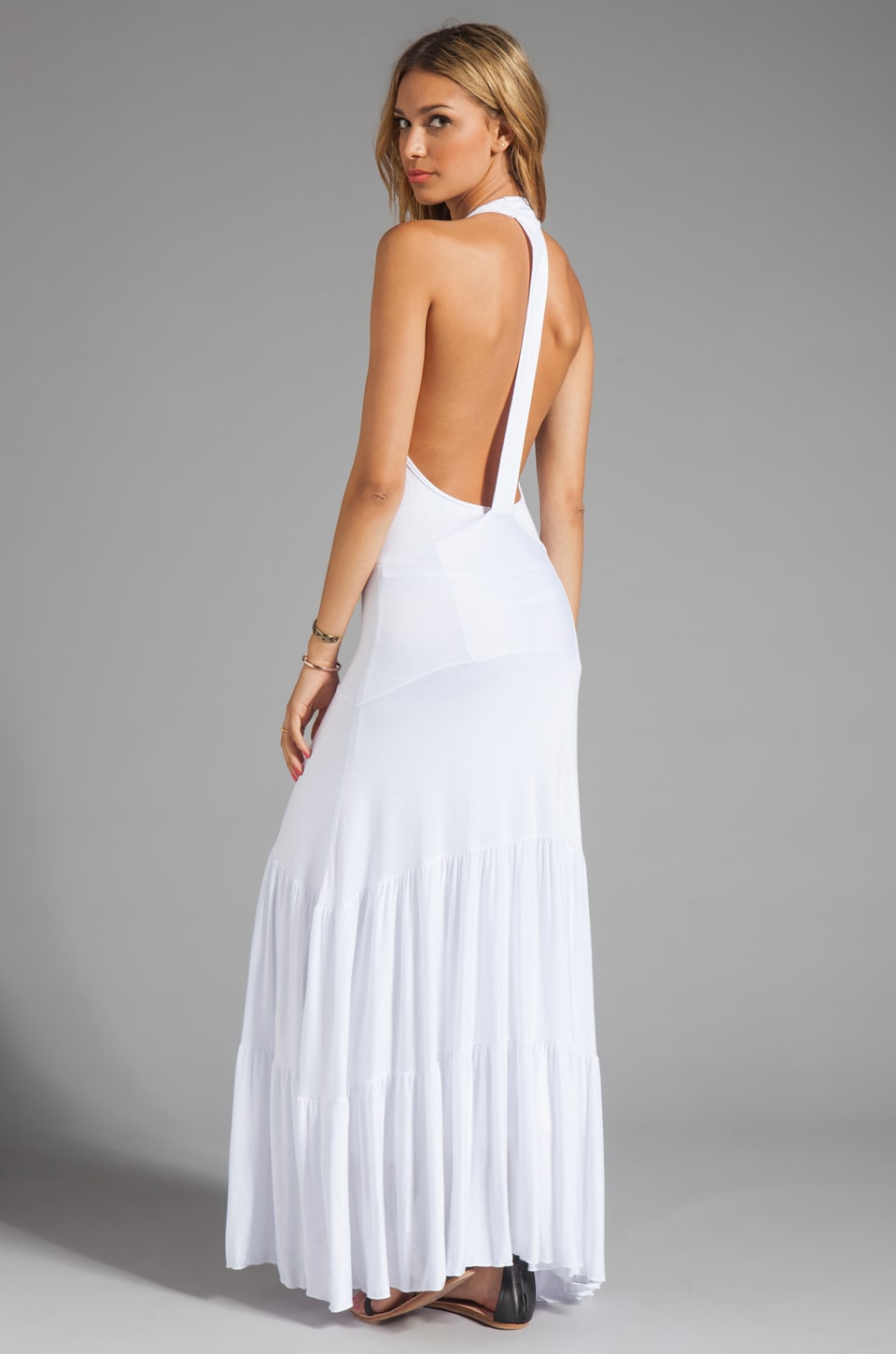 Tylie White Flare Dress in White