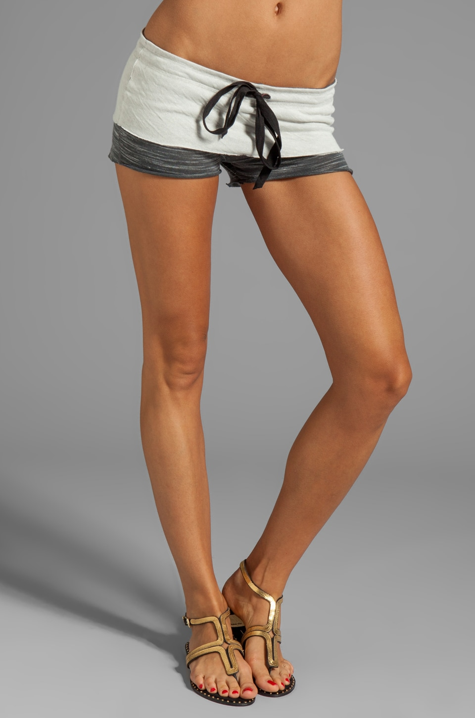 Tylie Space Dyed Shorts in Charcoal