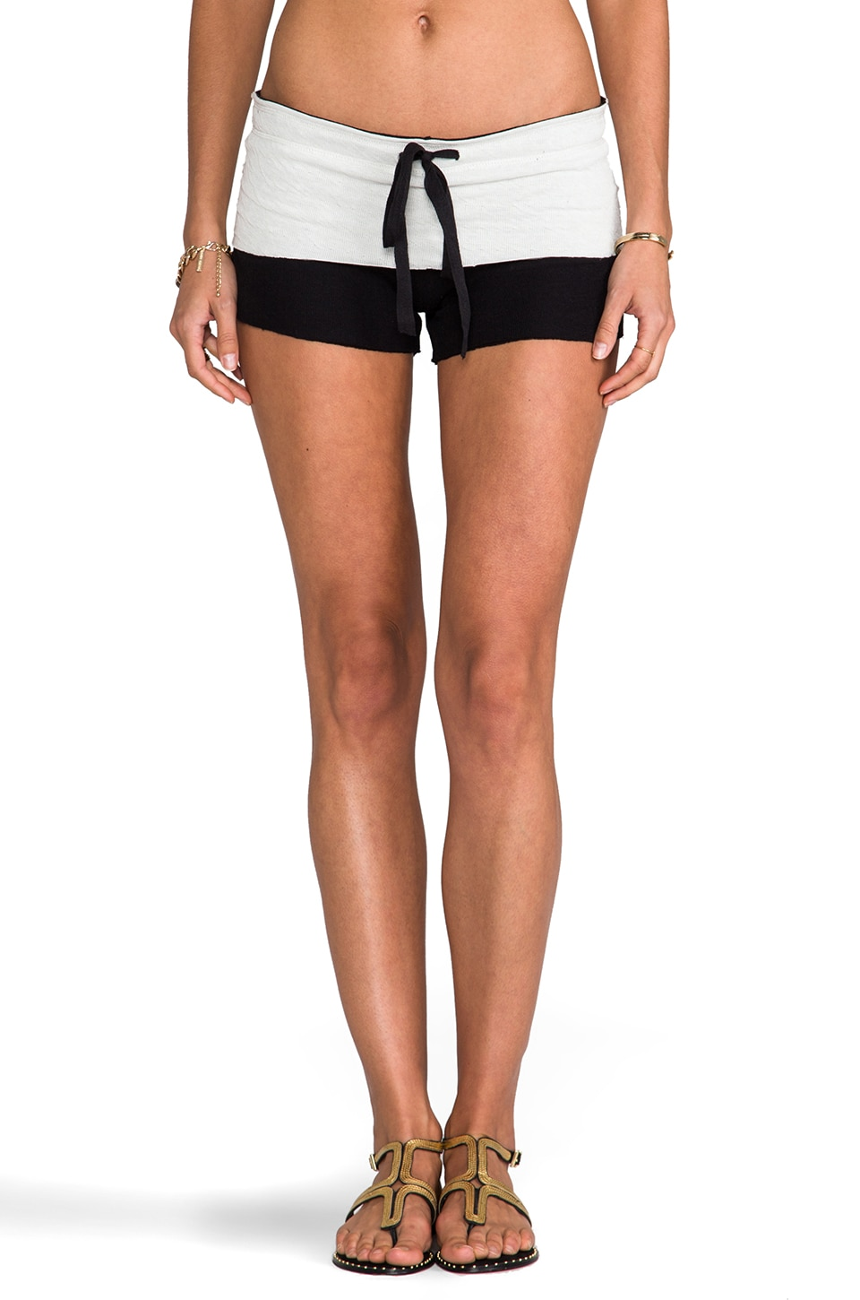 Tylie Double Face Shorts in Black