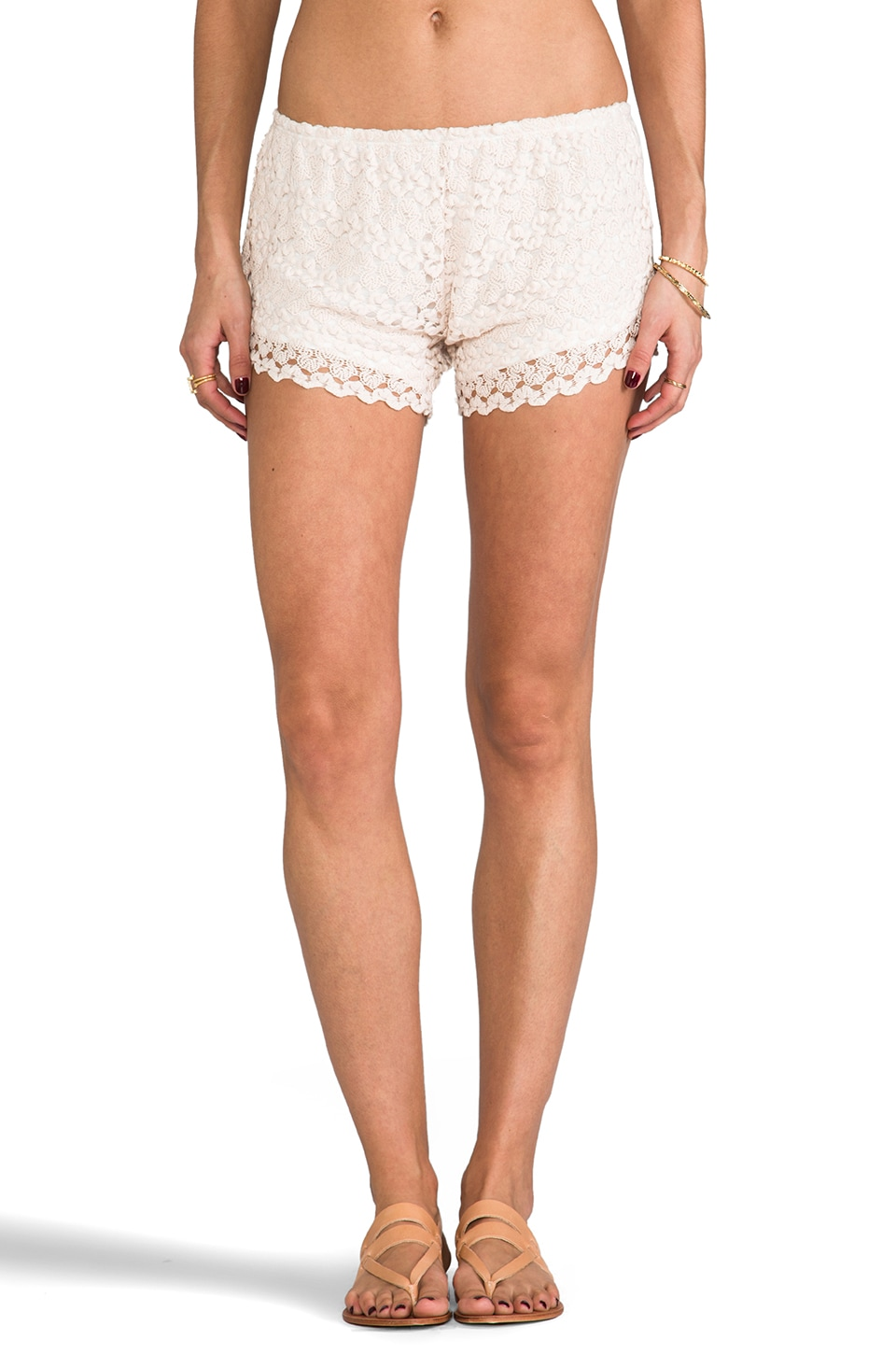 Tylie Crochet Shorts in Ivory