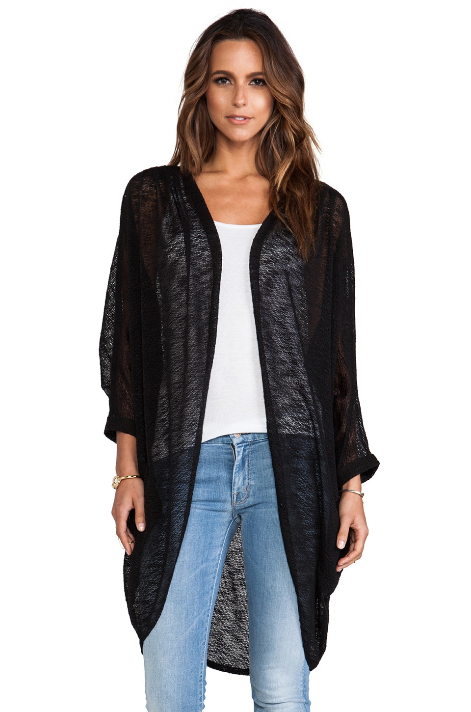 Tylie Sweater Knit Cardigan in Dark Charcoal