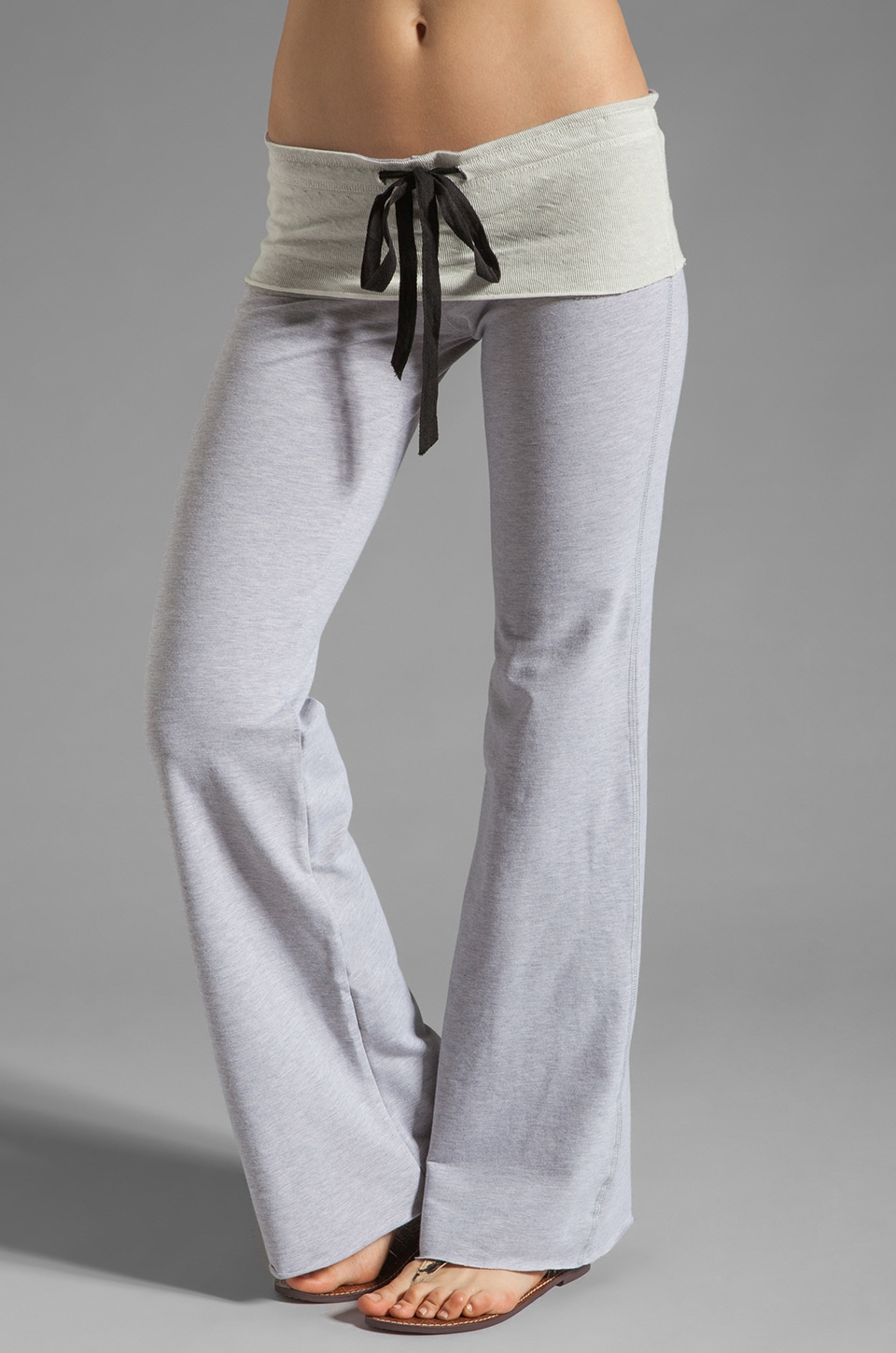 Tylie French Terry Wide Leg Pant in Heather