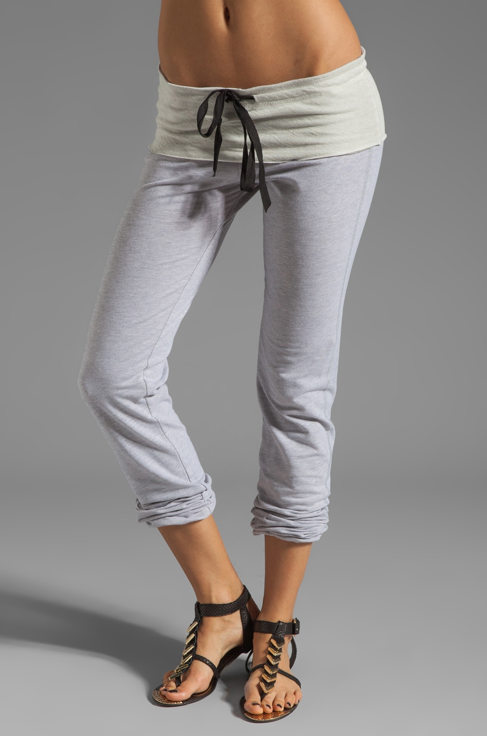 Tylie French Terry Elastic Bottom Pant in Heather