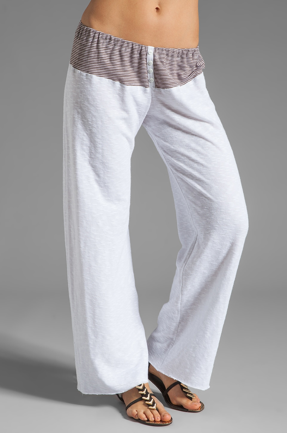 Tylie Stripe Lounge Pants in Mocha