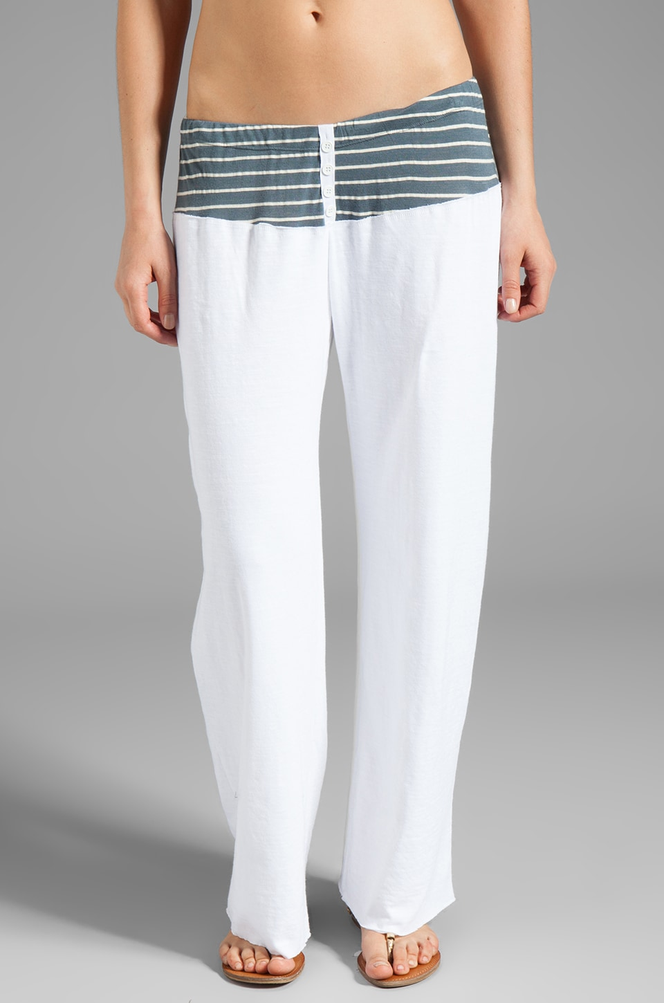 Tylie Stripe Lounge Pants in Danish Blue
